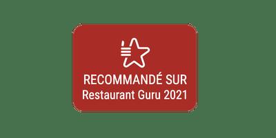 Recommandé par Restaurant Guru 2021